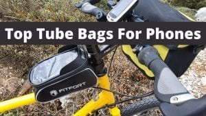 Using a top tube bag for my phone on my bicycle