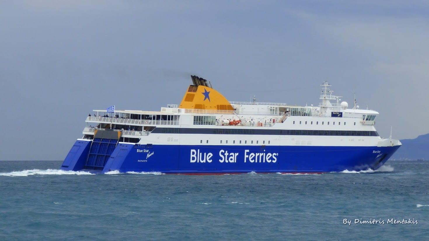 The Blue Star Naxos sailing to Donoussa