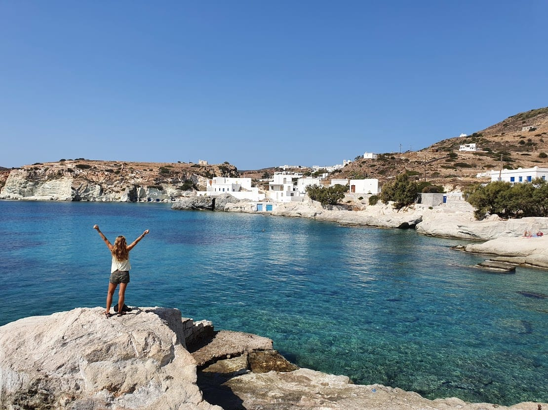 Checking out the beaches in Kimolos island