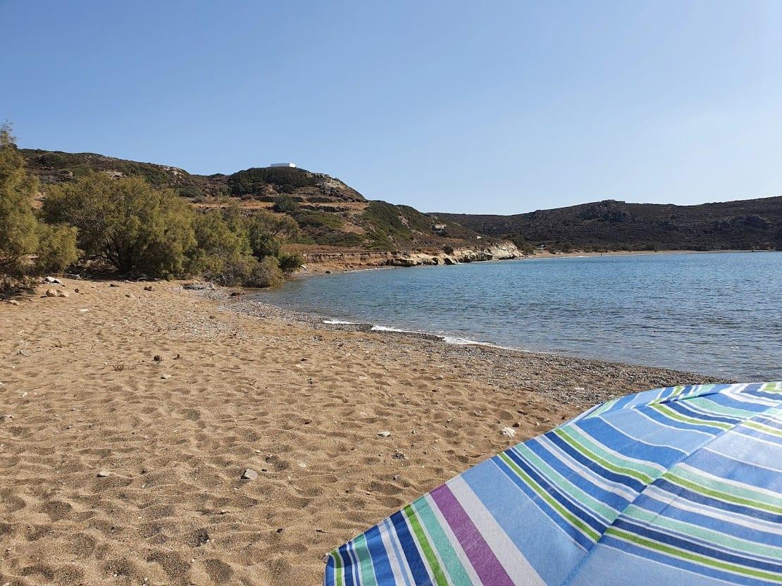 Spending time on Dekas beach in Kimolos