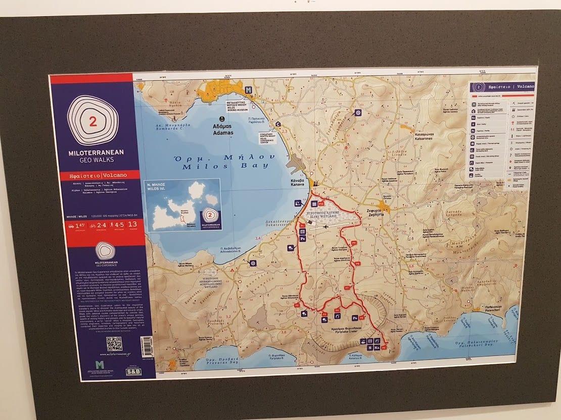 Geo walk map in Milos