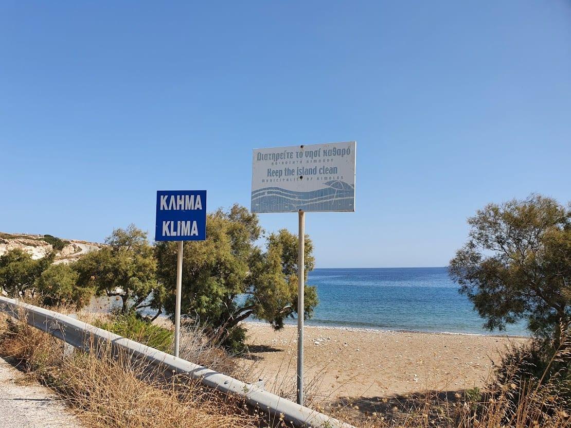 Klima beach on Kimolos island in Greece