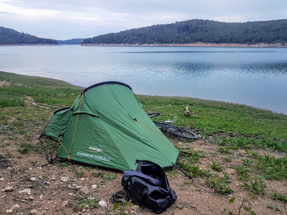 I use a lightweight Vango tent for bicycle touring