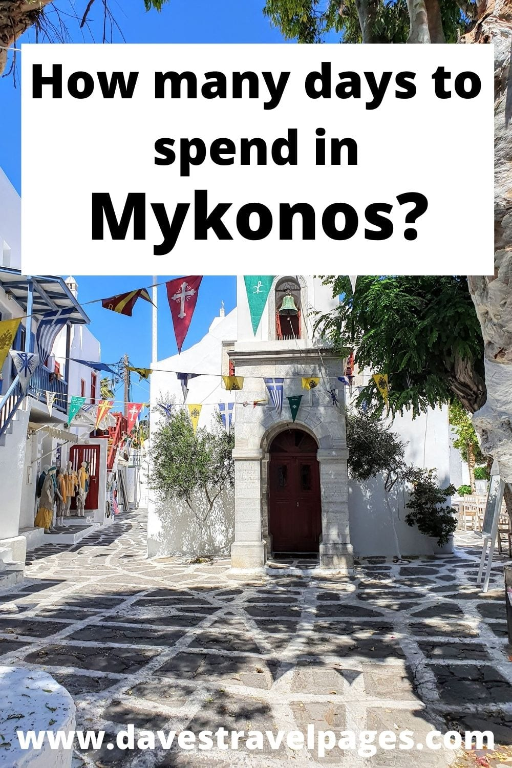 3 days is about the best amount of time to spend in Mykonos
