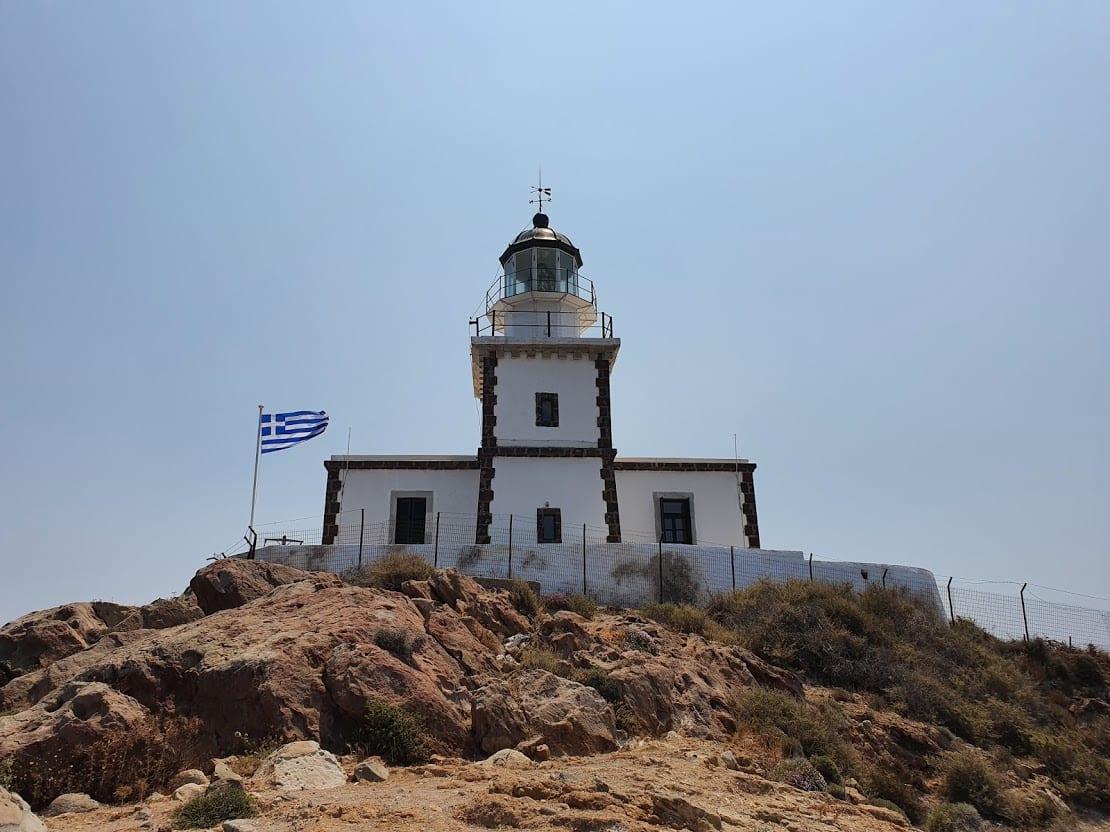 Akrotiri lighthouse in Santorini Greece