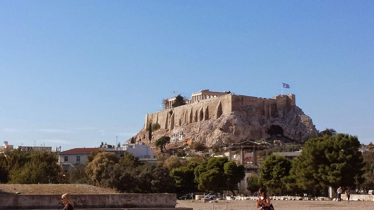 Autumn is a great season to visit the Acropolis in Athens as it isn't too hot
