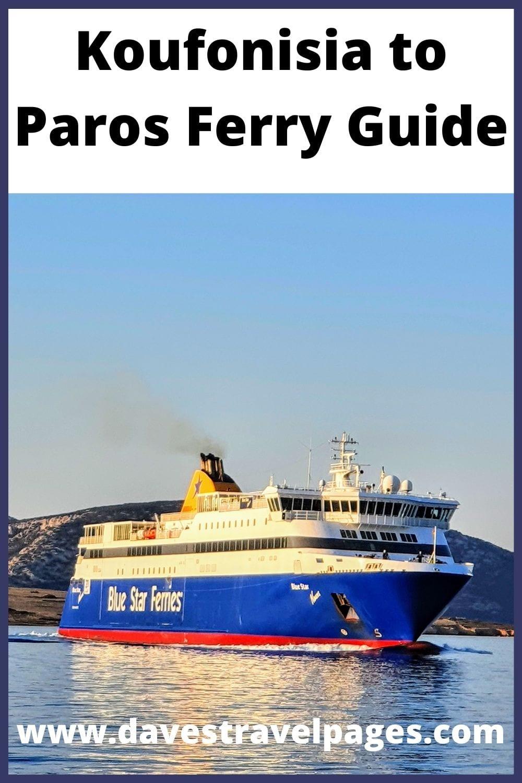 Koufonisia to Paros ferry guide