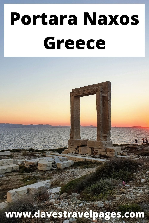 The monumental Portara of Naxos, Greece