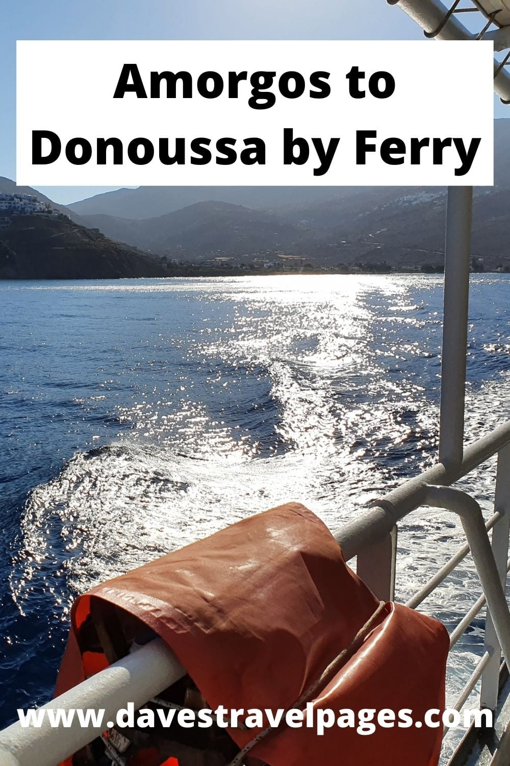 How to travel from Amorgos to Donoussa by ferry