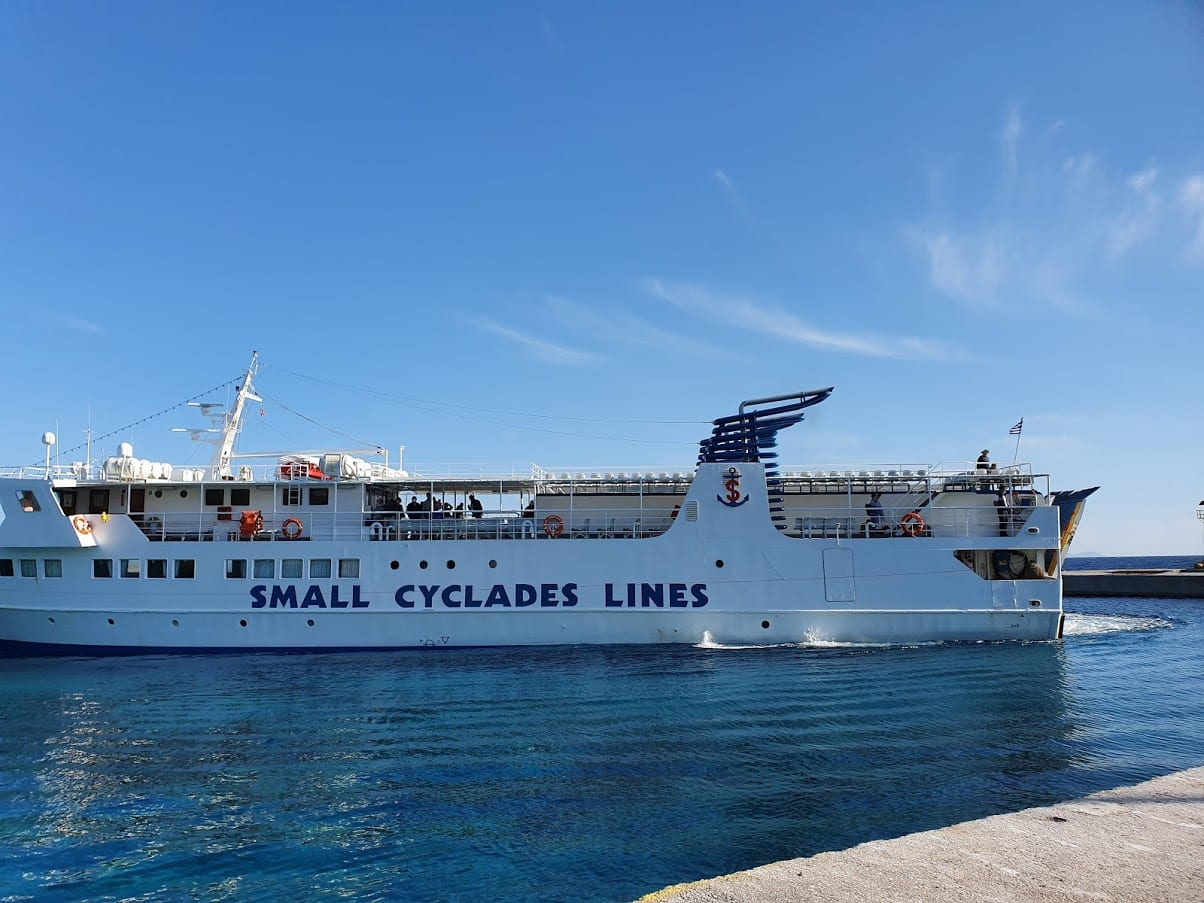 How to get from Amorgos to Donoussa by ferry on the Small Cyclades Lines