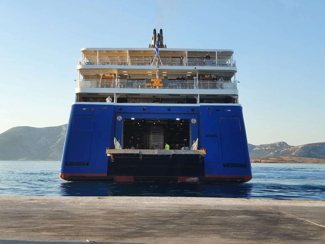 Getting ready to board the Paros ferry from Koufonisia island