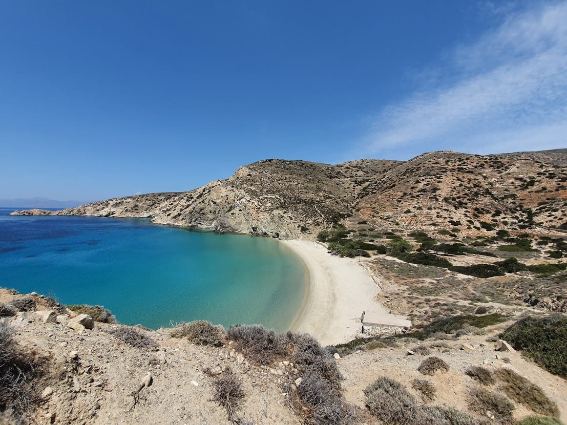 A view of Livadi Beach on the Greek island of Donousa