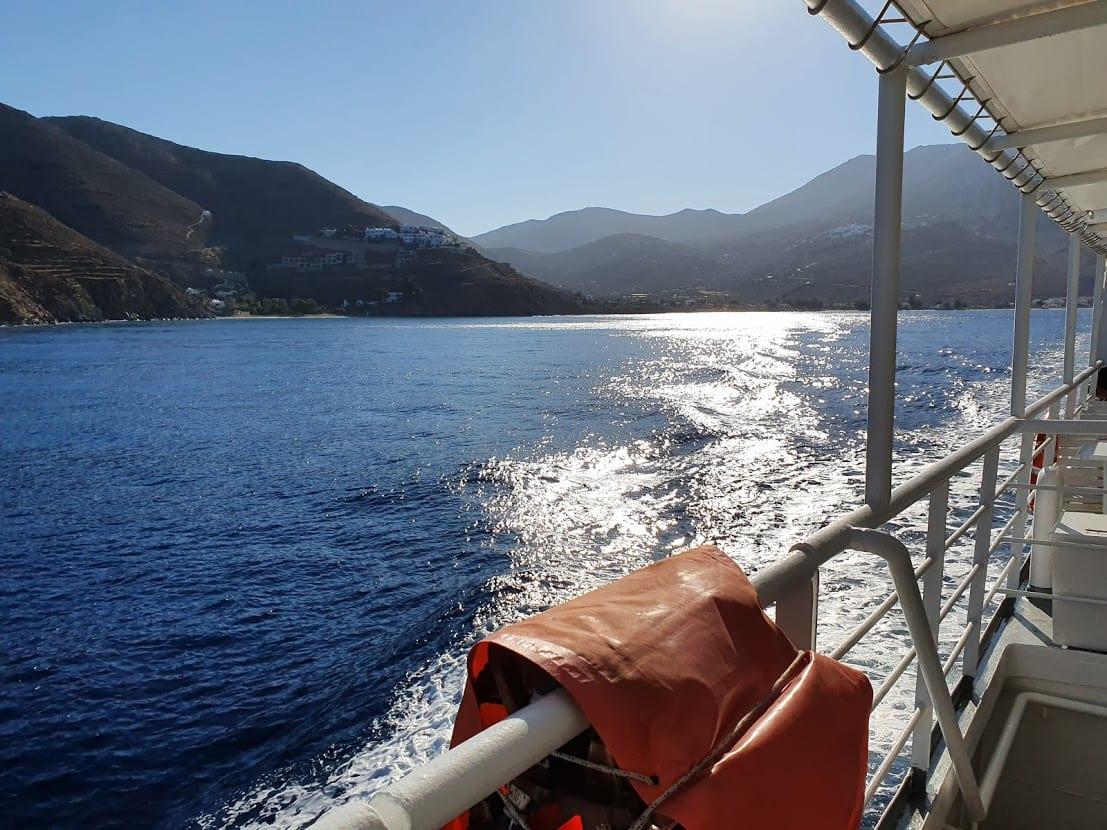 Leaving Amorgos on the Express Skopelitis