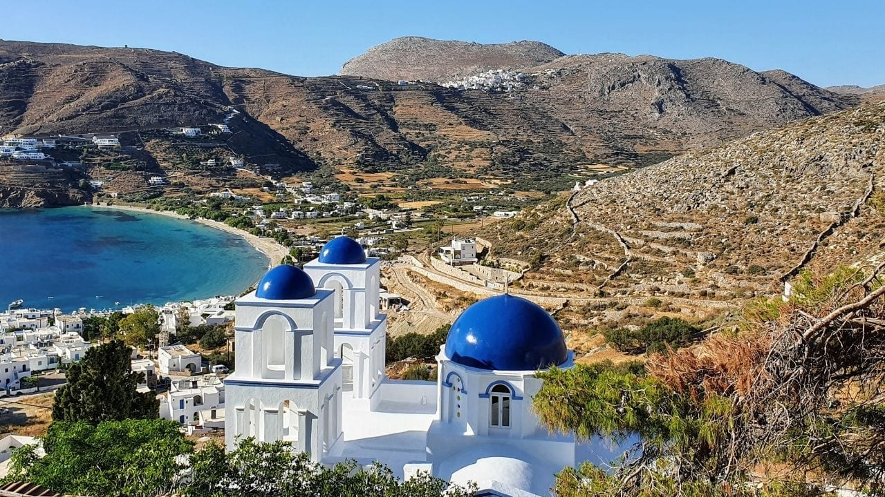 Enjoying the views such as this one overlooking Aegiali is one of the best things to do on the Greek island of Amorgos