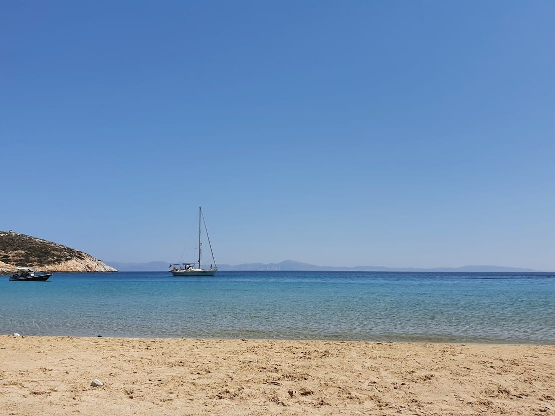 The view from Kedros beach in Donoussa