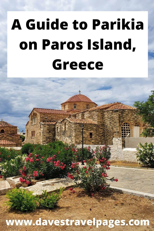A Guide to Parikia on Paros Island, Greece