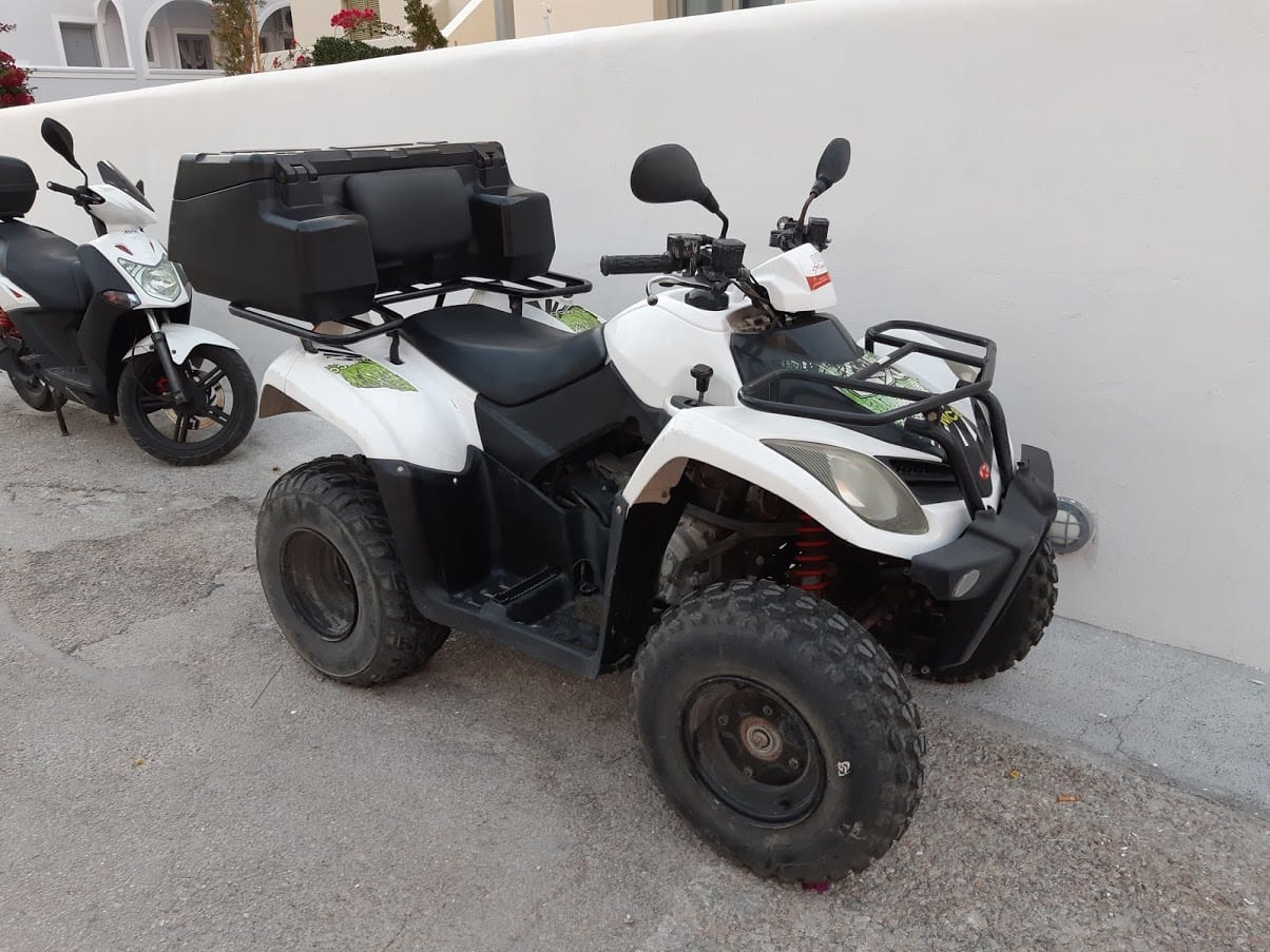 An ATV for hire in Santorini