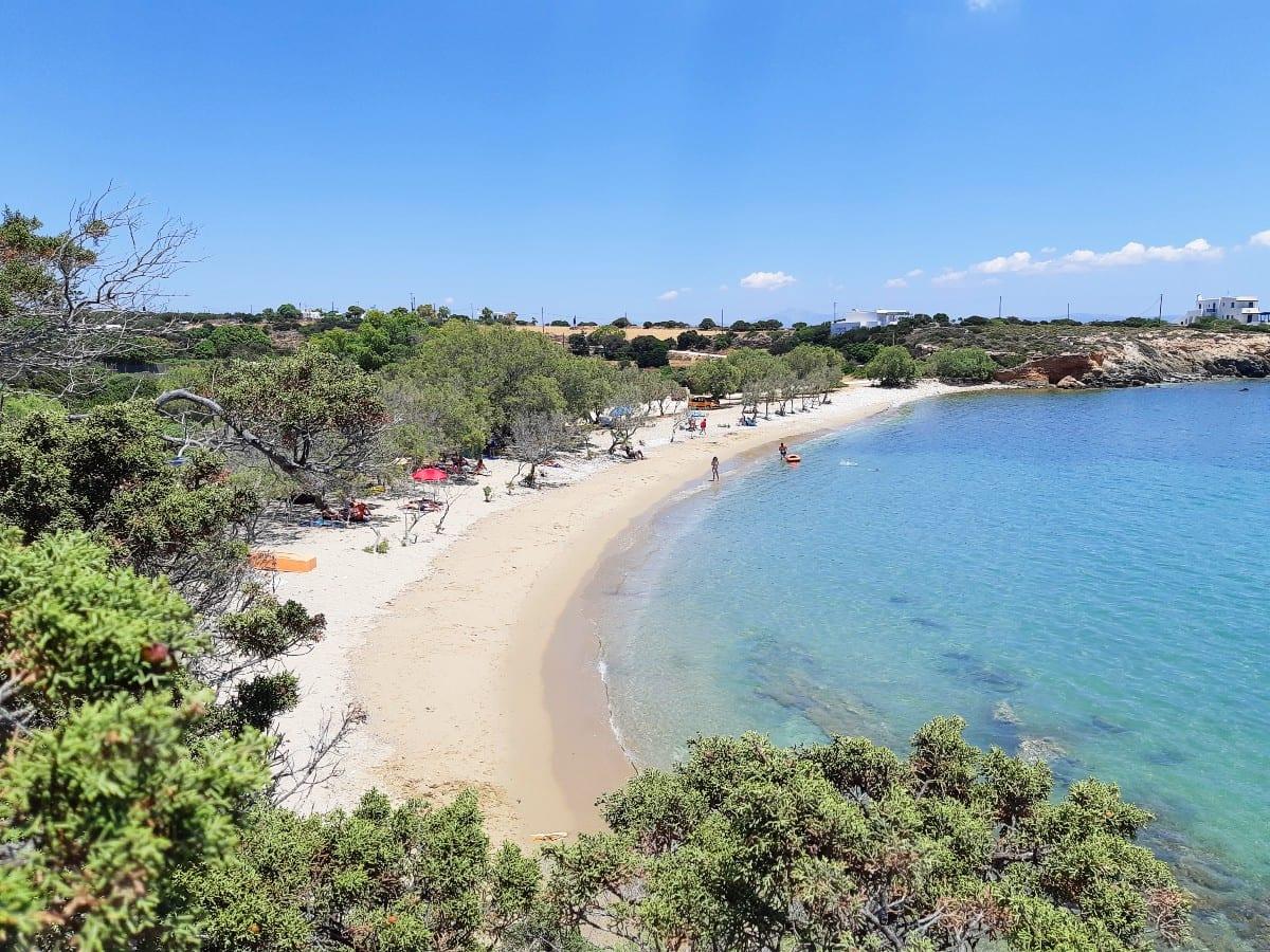 Glyfa beach in Paros