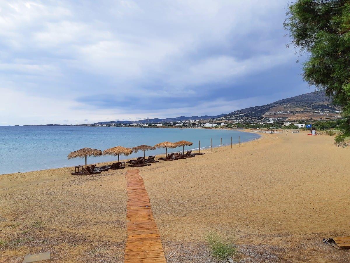 Golden beach in Paros
