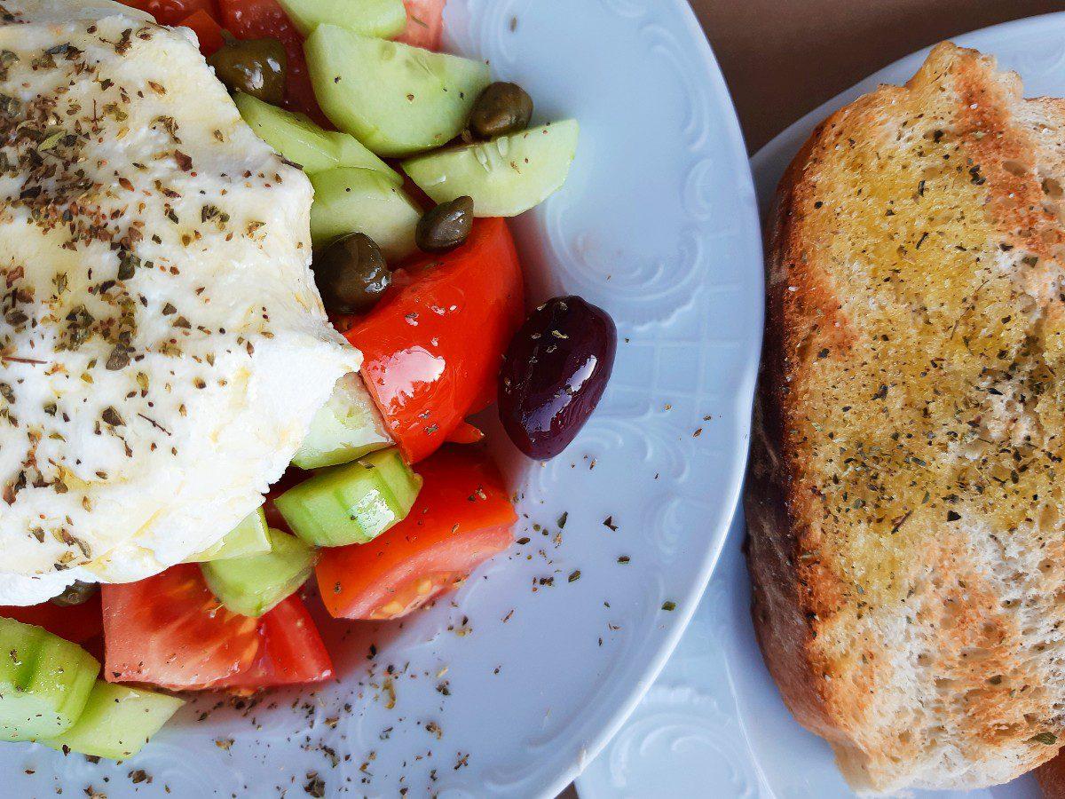 Greek food in Koufonisia