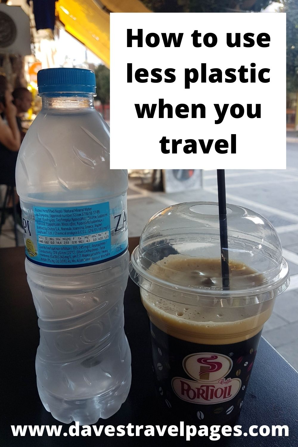 Tips on how to use less plastic when you travel