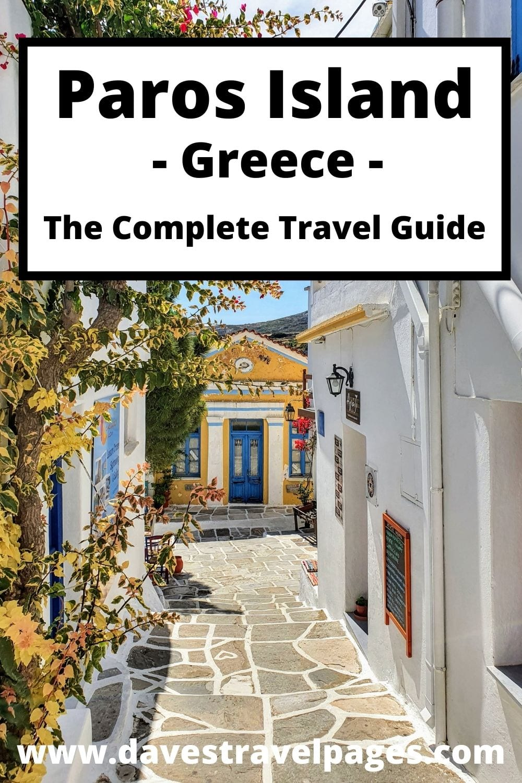 Paros Island Sightseeing Guide (Greek islands vacation guide)