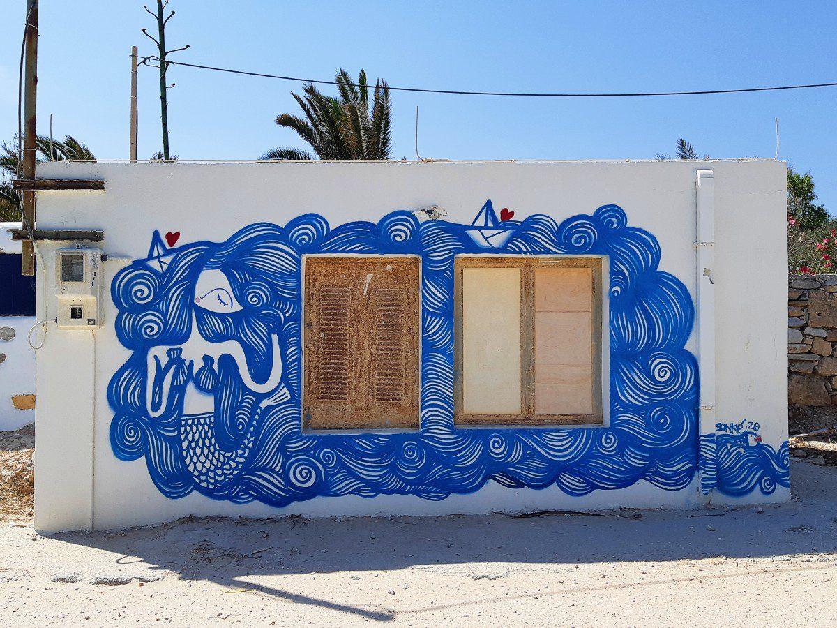 Street art in Koufonisia Greece
