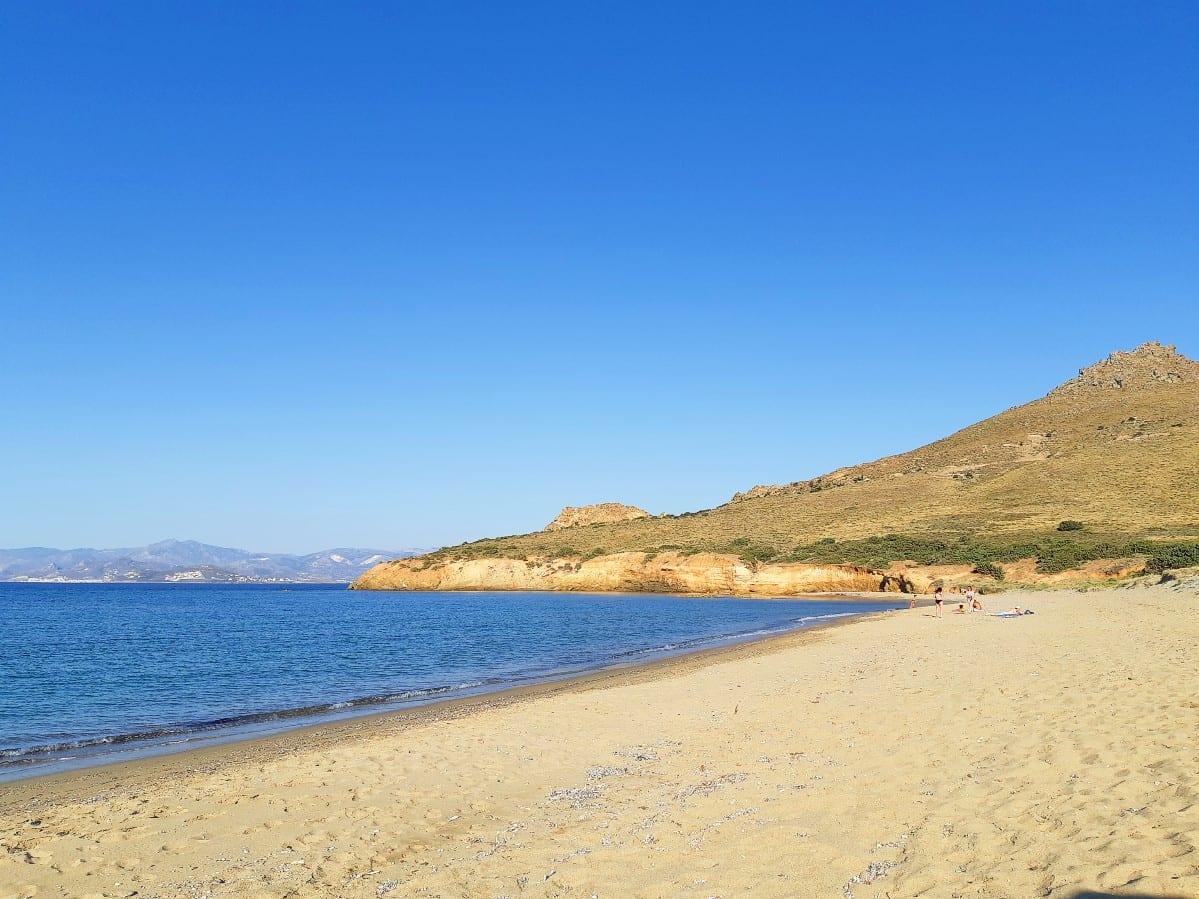 Tsoukalia Beach on the island of Paros in Greece