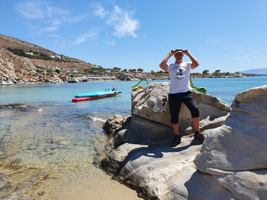 Dave at Kolymbithres in Paros