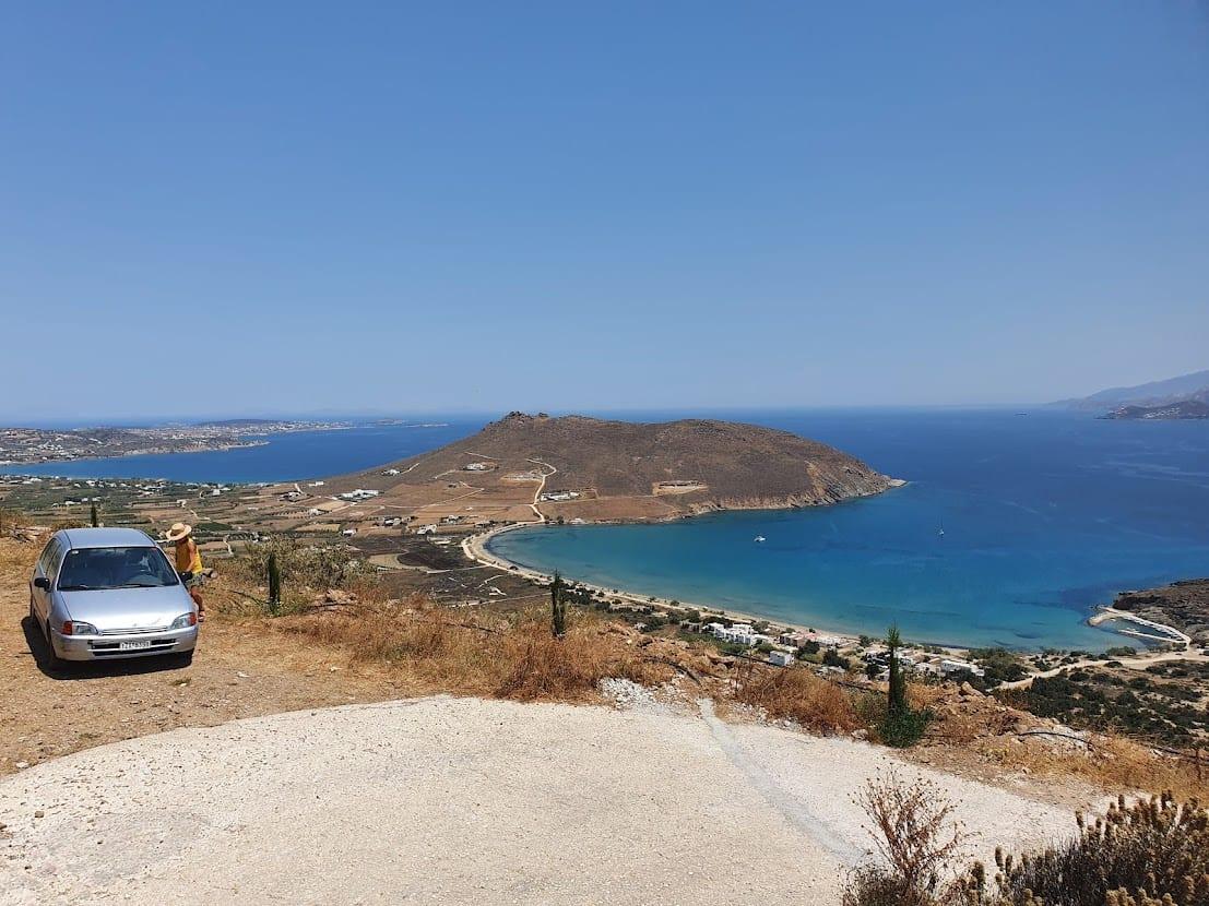 Driving around Paros