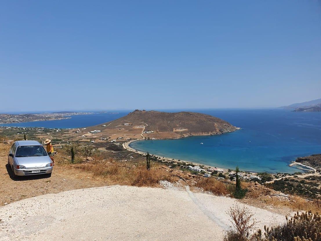 Driving in Paros island Greece