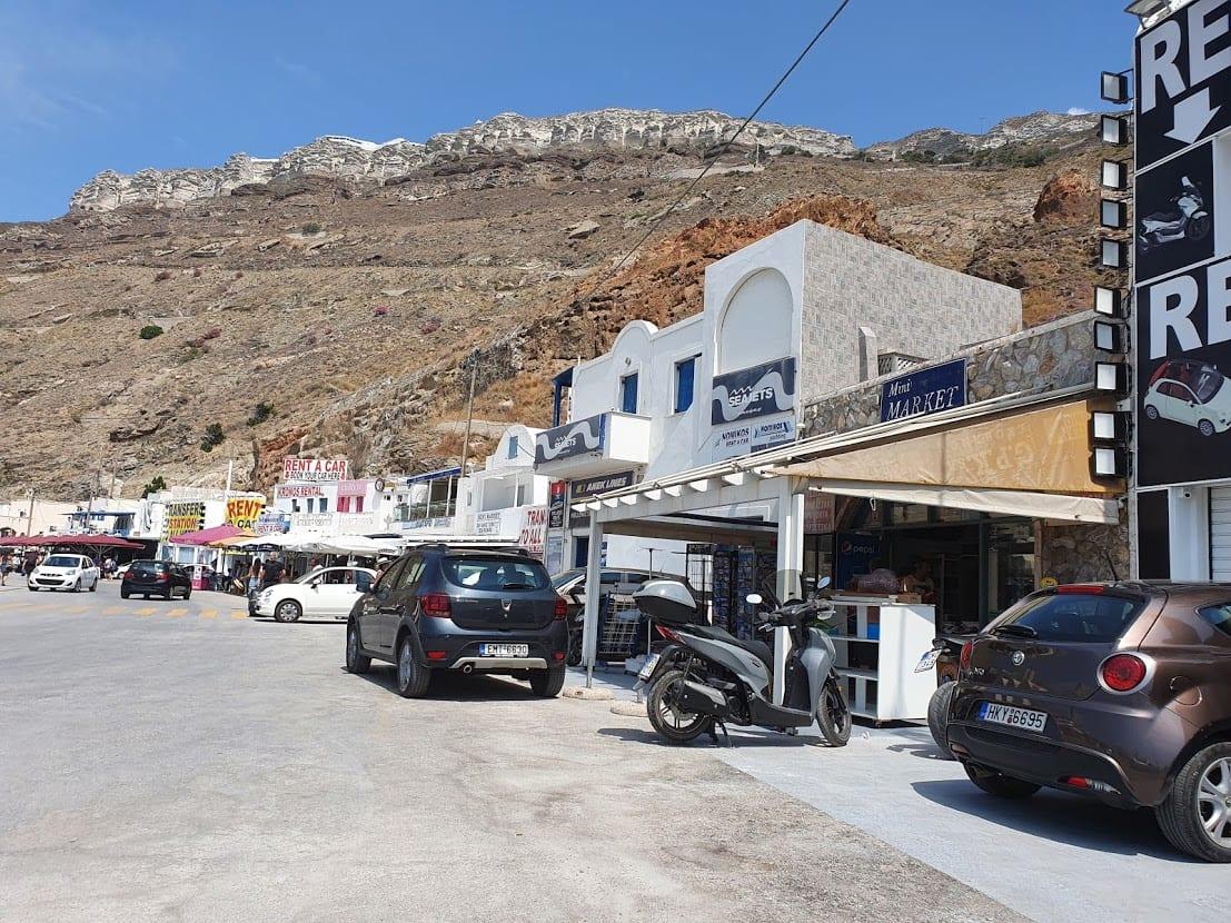 Car rental in Santorini ferry port