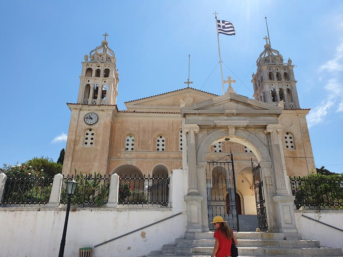 The big church in Lefkes village in Paros