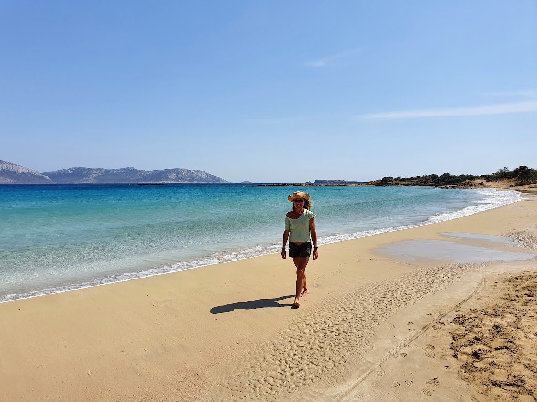 Visiting the beaches in Koufonisia in Greece