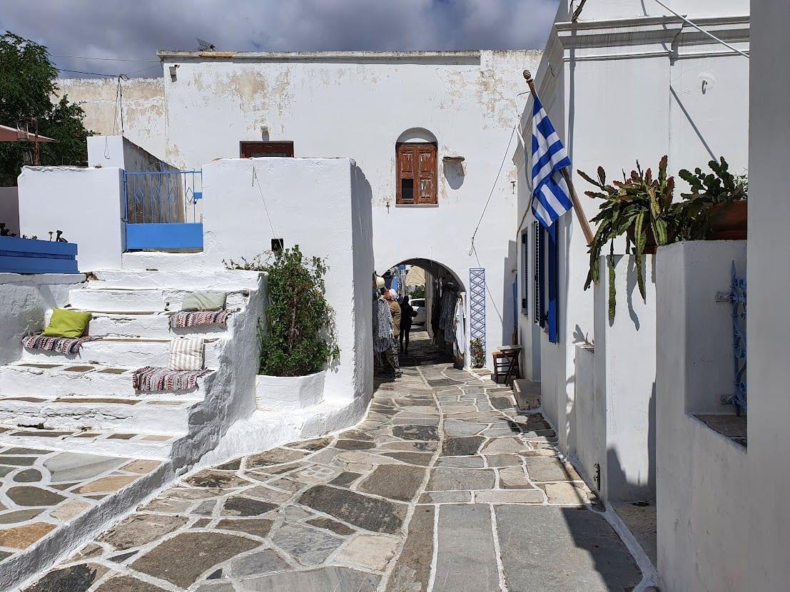 Walking in Lefkes village in Paros