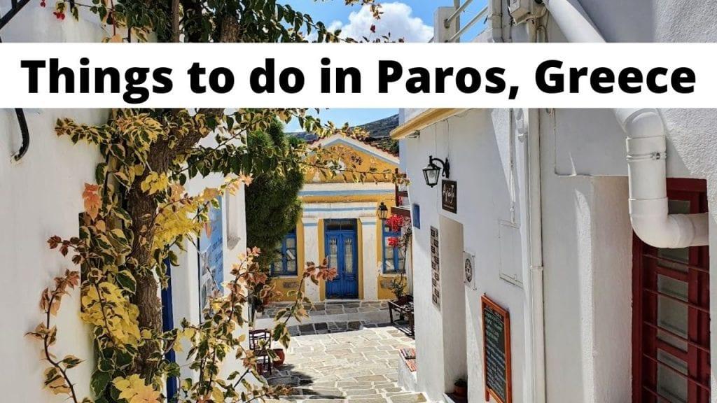 מה לעשות במדריך טיולים פארוס
