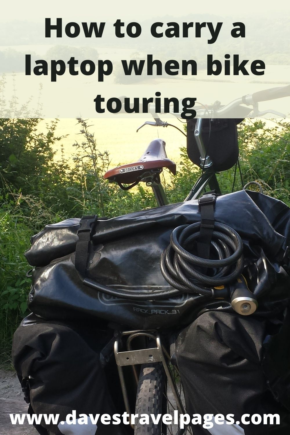 How to safely carry a laptop when bicycle touring