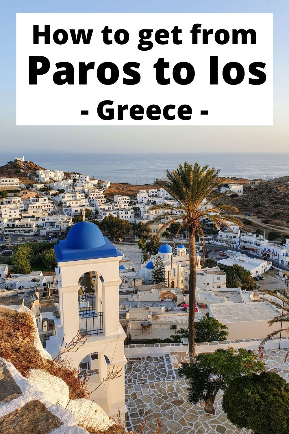 How to get from Paros to Ios island in Greece by ferry