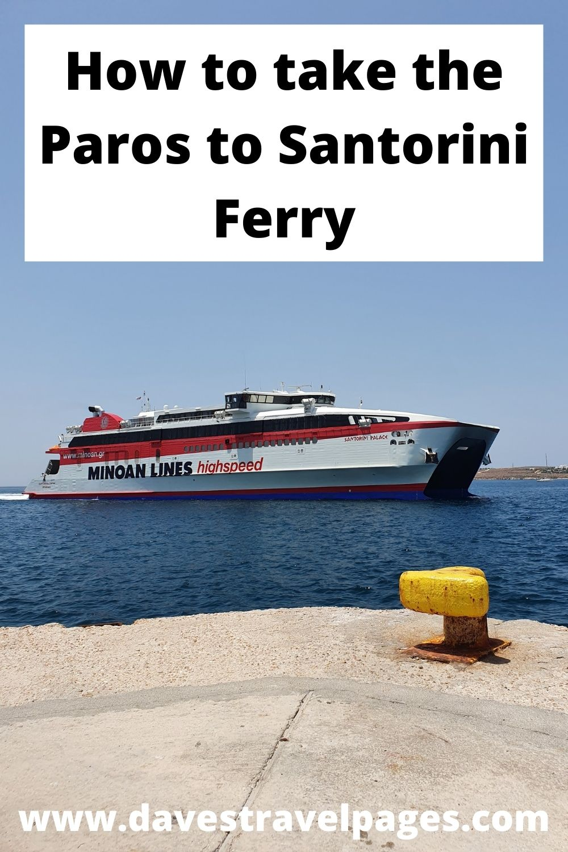 How to take the Paros to Santorini ferry
