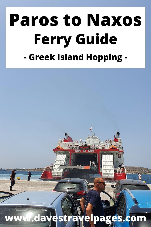 How to take the ferry from Paros to Naxos