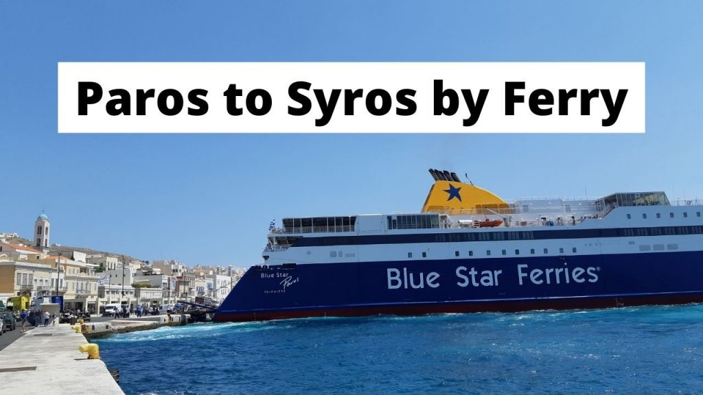 Taking the ferry from Paros to Syros in Greece