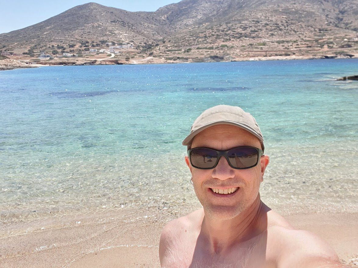 Dave Briggs from Dave's Travel Pages in Donoussa, Greece
