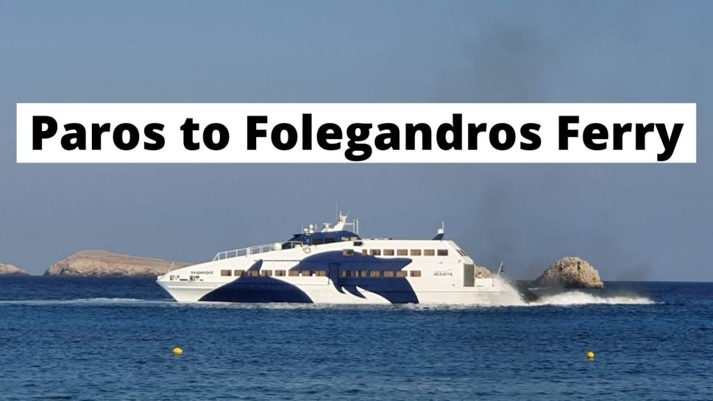 Taking the Paros to Folegandros ferry