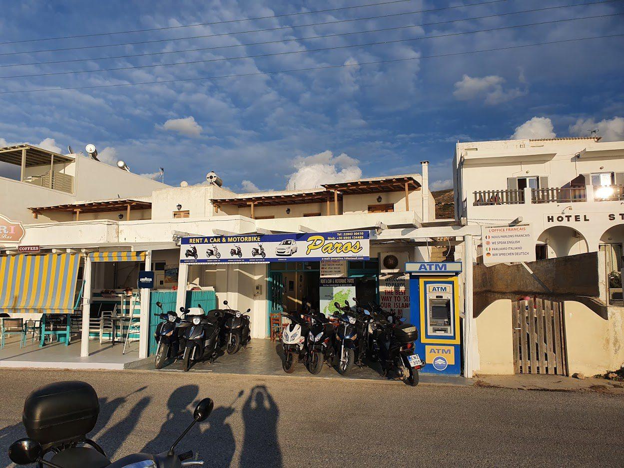 Hiring a vehicle to get around Paros