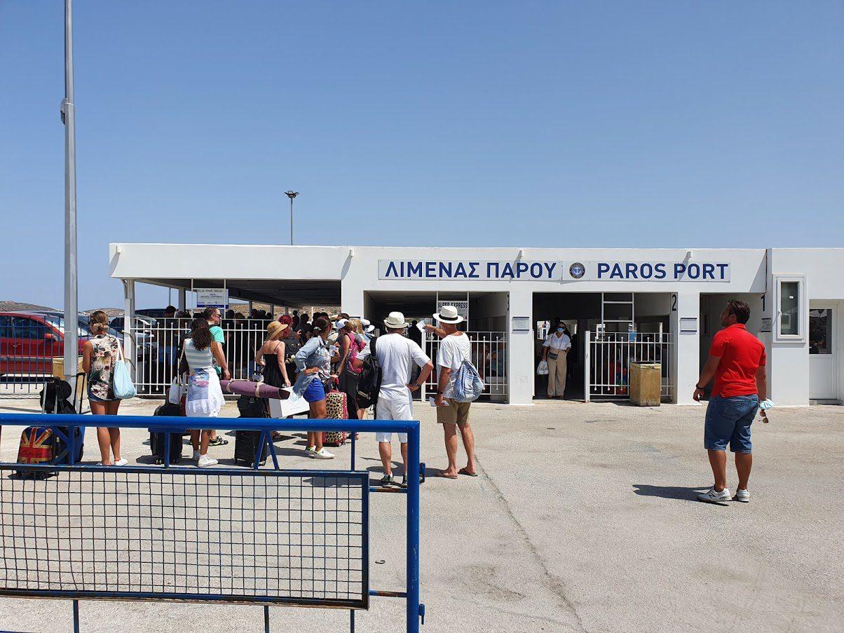 Paros ferry port