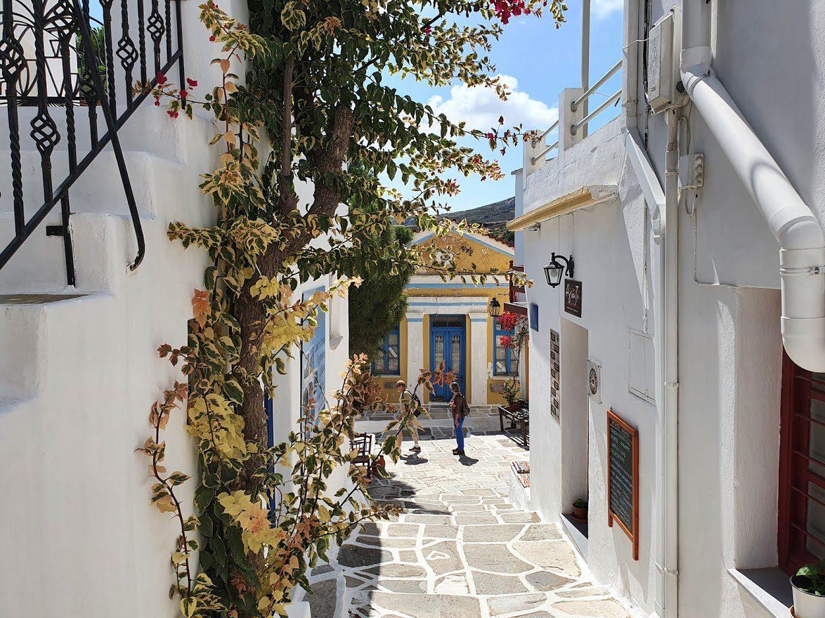 Lefkes village in Paros island Greece