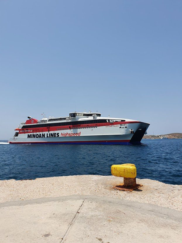 Minoan Lines ferry from Paros to Naxos