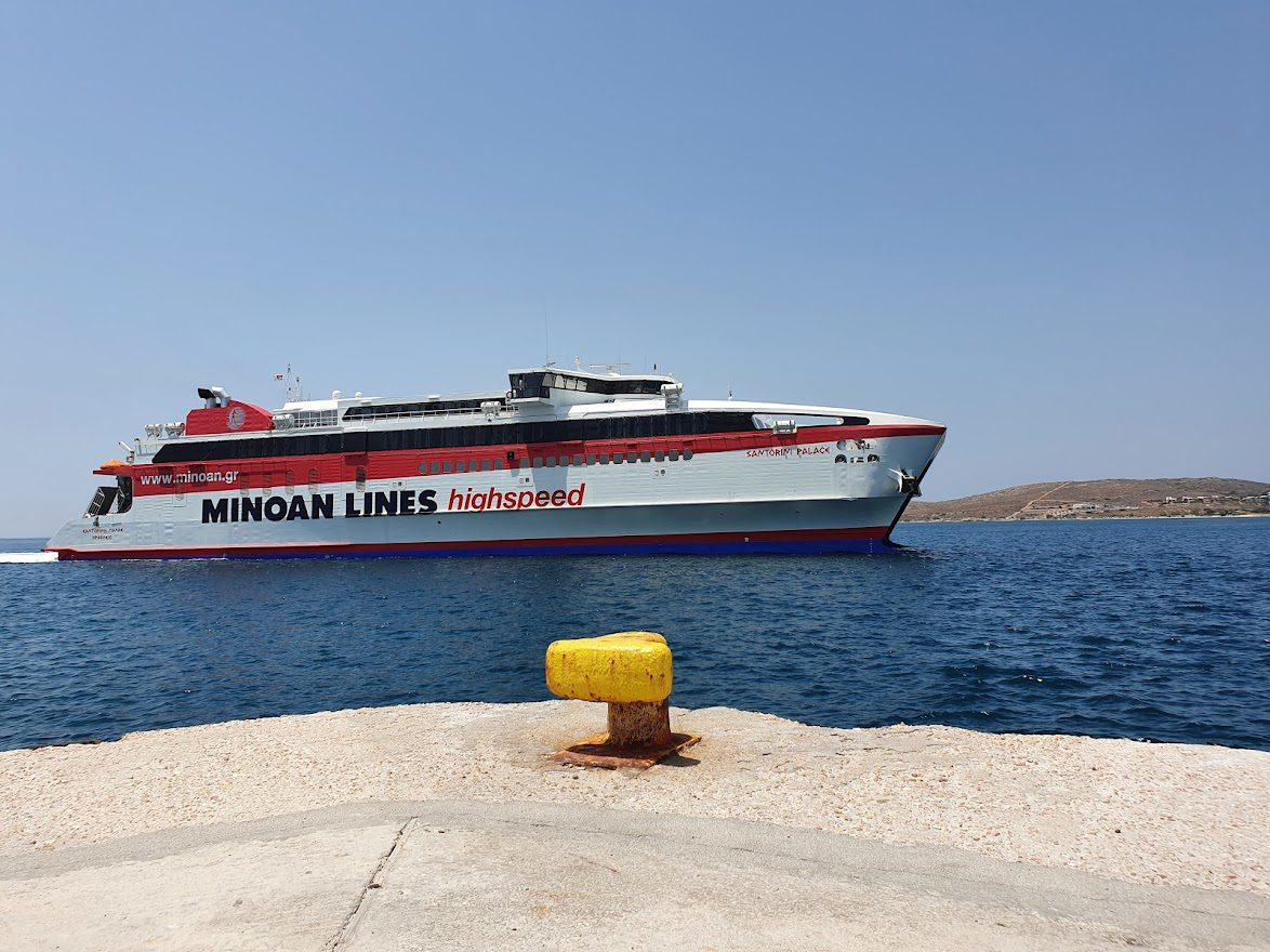 Santorini Palace ferry from Paros to Mykonos