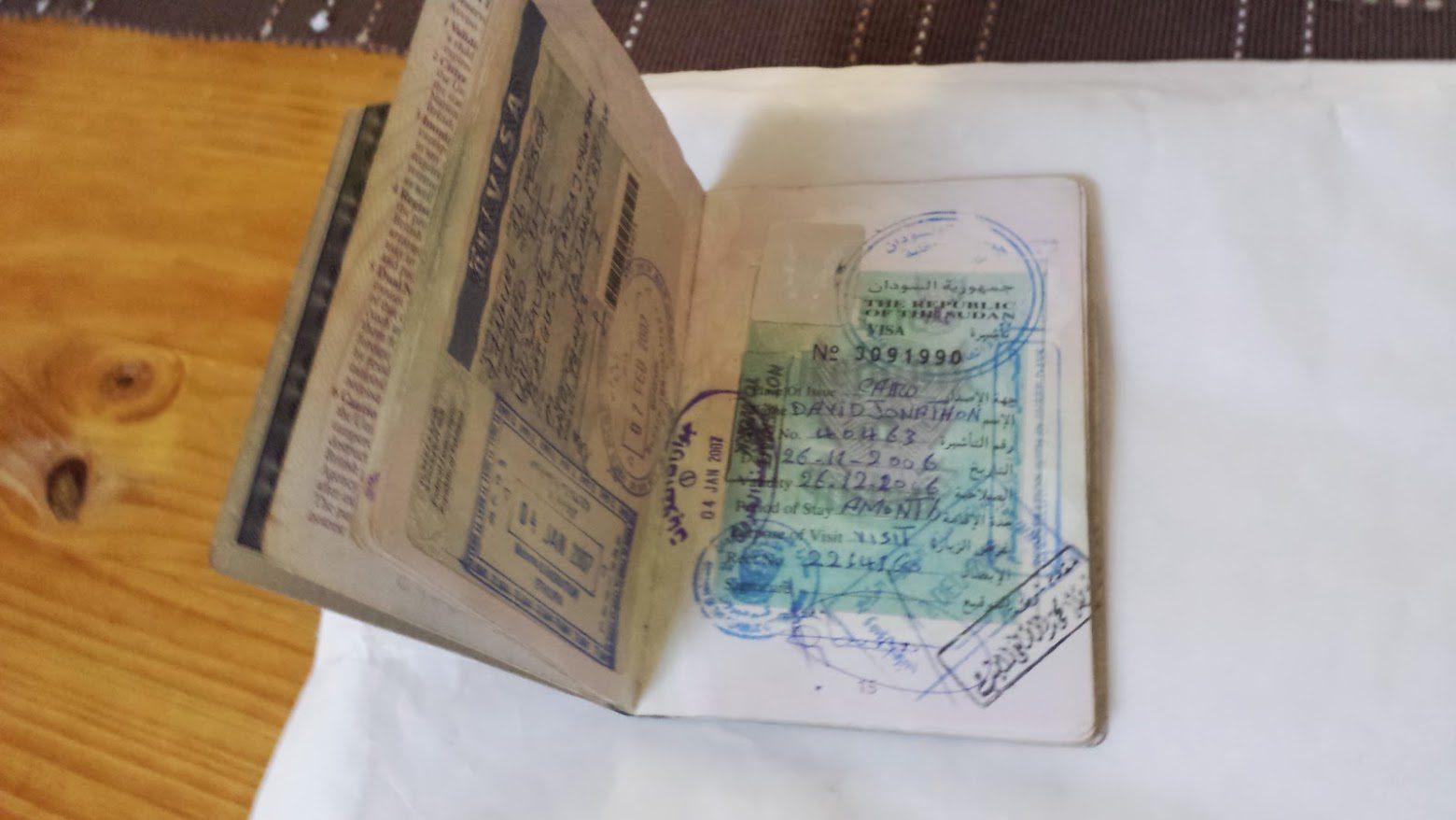 My visa from Sudan