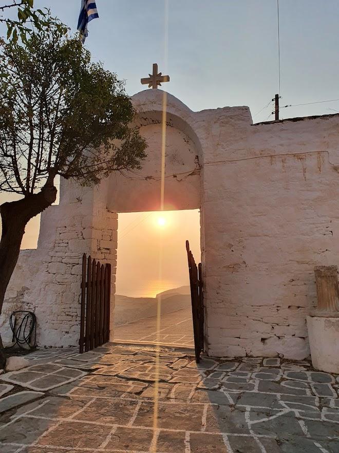 Sunset in Folegandros Greece